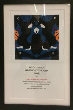 Wrocławska Nagroda Teatralna dla Alicji Morawskiej-Rubczak