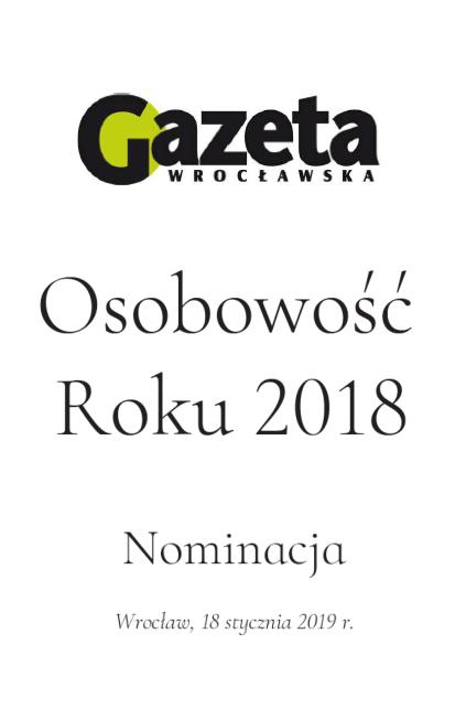 Osobowość roku 2018. Nominacje